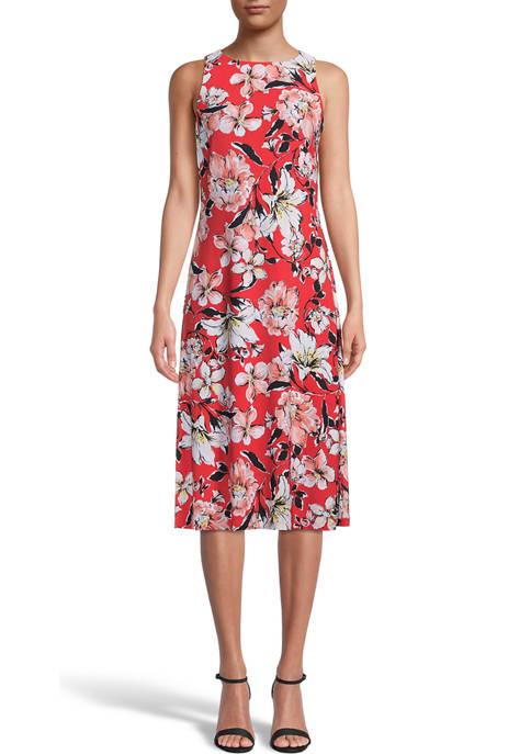 Petite Watercolor Bouquet Dress
