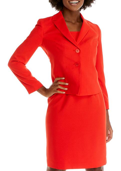 Womens 2-Button Notch Collar Jacket