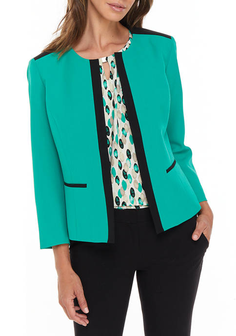 Womens Stretch Crepe Jacket