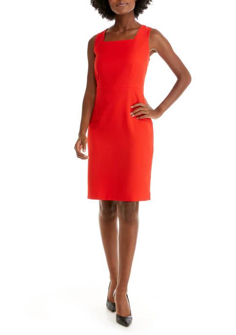 Kasper Womens Stretch Crepe Dress