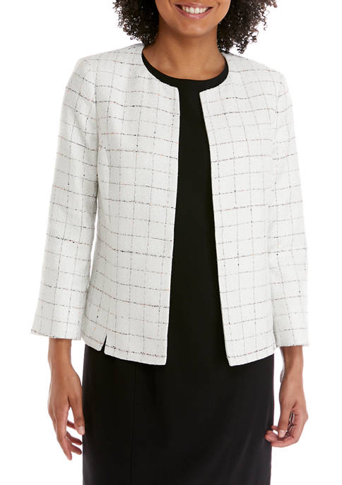 Kasper Womens Novelty Tweed Jacket