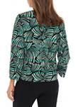 Womens Palm Jacquard Cardigan Jacket