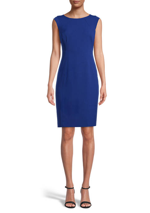 Petite Sleeveless Crepe Sheath Dress