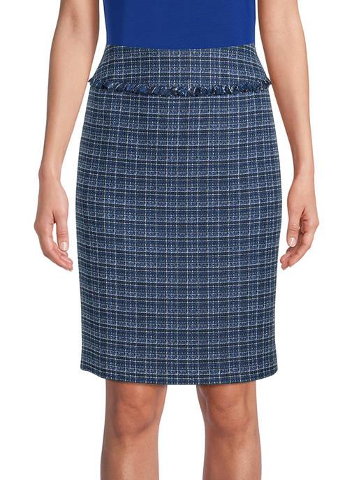 Womens Tweed Fringe Skirt