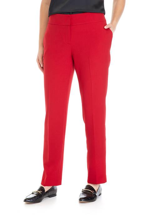 Kasper Womens Basic Crepe Slim Trousers