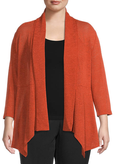 Kasper Plus Size Onion Skin Cardigan
