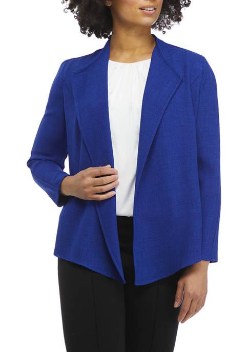 Kasper Petite Cropped Drape Front Cardigan Jacket