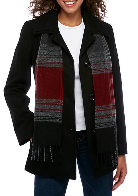 Womens Single Breasted Wool Coat