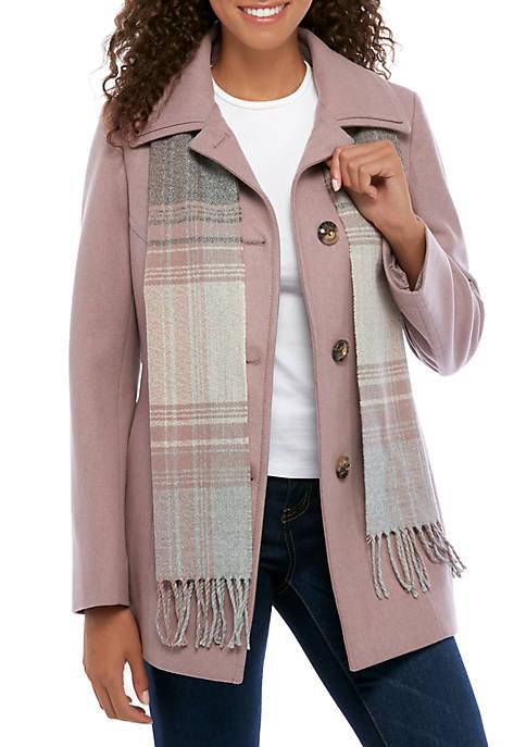 London Fog® Womens Single Breasted Wool Coat