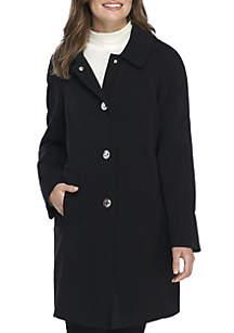 Single Breasted Rain Coat