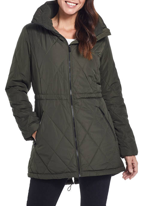 Ellen Tracy Womens Quilted Anorak Jacket
