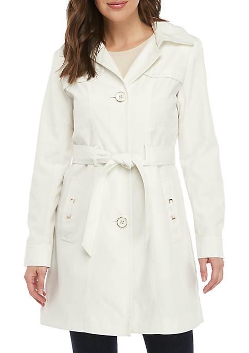 Gallery Button Front Rain Coat