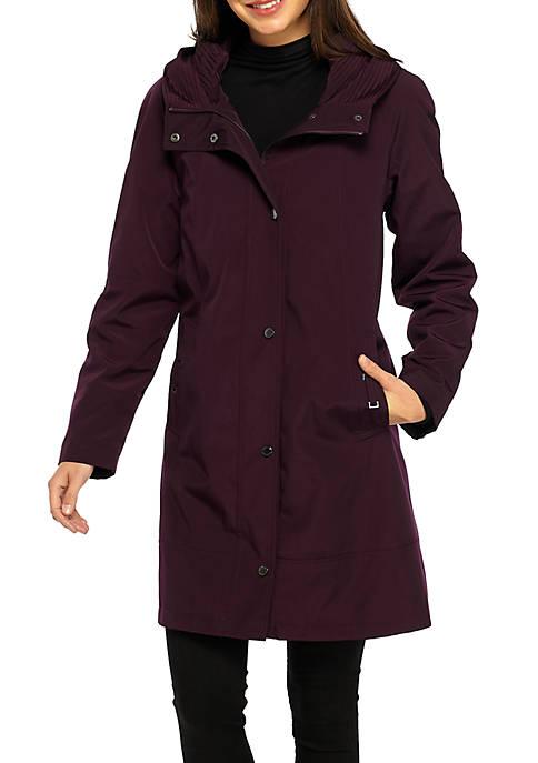 Funnel Collar Raincoat