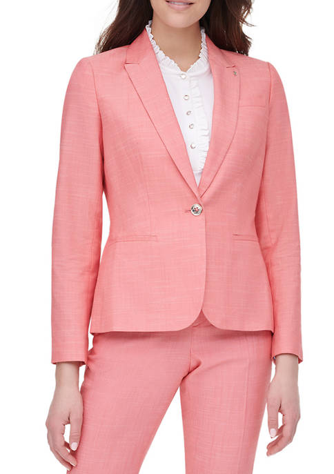 Womens Cotton Polyester One Button Jacket