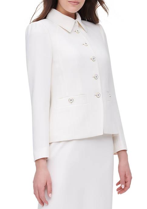 Womens Button Pocket Short Jacket