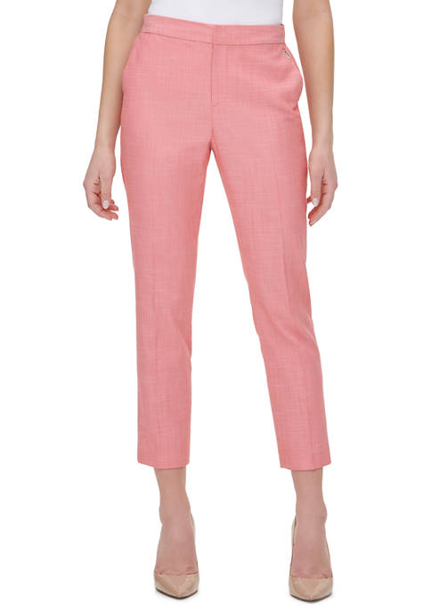 Womens Slim Leg Ankle Pants