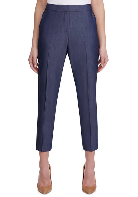 Womens Dressy Denim Elastic Back Pants