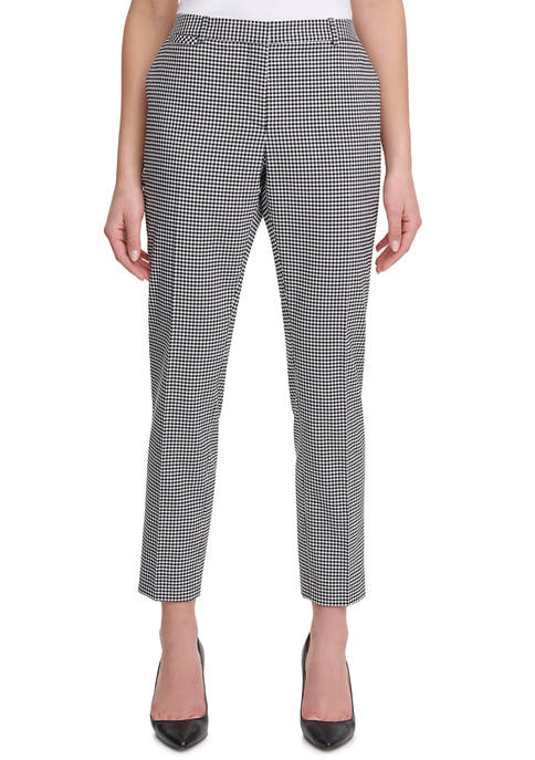 Womens Gingham Trousers