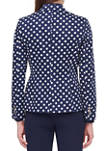 Womens Dotted One Button Jacket