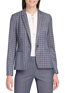 Tommy Hilfiger One Button Windowpane Jacket