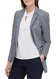 Tommy Hilfiger Open Gingham Unlined Jacket