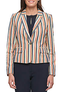 Tommy Hilfiger Stripe One Button Jacket