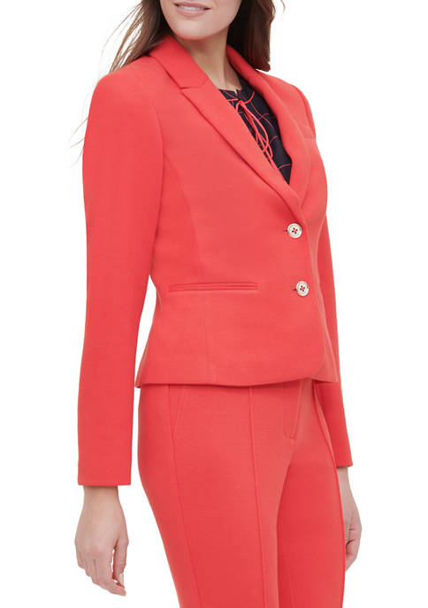 Womens Button Front Jacket with Front Pockets