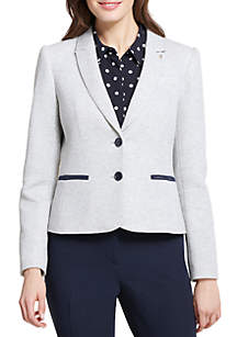 Tommy Hilfiger 2 Button Knit Jacket with Elbow Patches