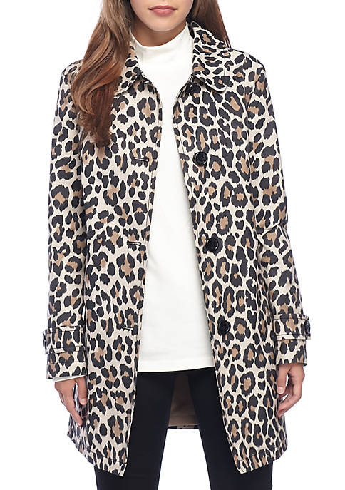 kate spade new york® Leopard Printed Rain Coat