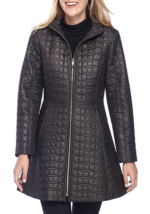 kate spade new york® A-Line Bow Quilt Jacket