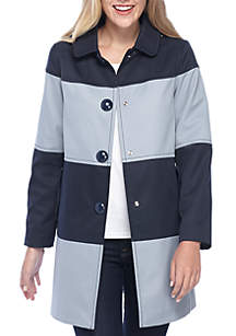 Stripe Hooded Rain Jacket