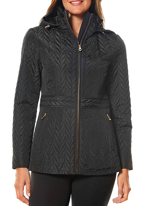 kate spade new york® Short Hooded Quilted Coat