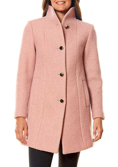 Womens Boiled Button Front Coat