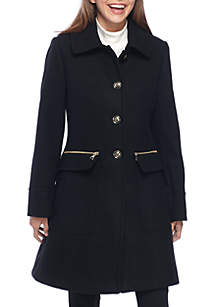 Hope Button-Front Wool Coat