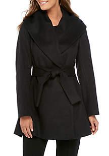 Amelia Tie Waist Wool Coat
