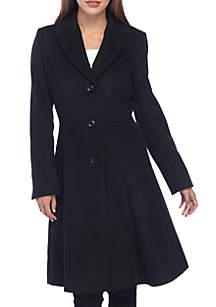 Skylar Skirted Wool Coat