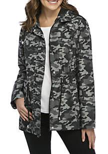 Parka In A Pocket Printed Coat