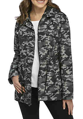 9770f454fa4 New Directions® Parka In A Pocket Printed Coat ...