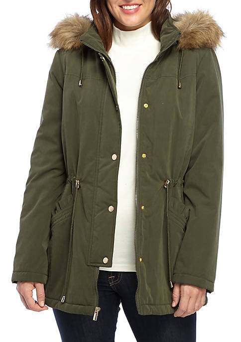 Fur Hood Anorak Jacket