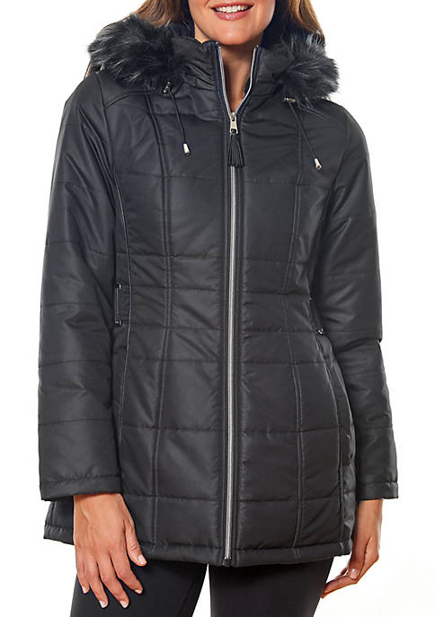 Fur Trimmed Hooded Puffer Jacket