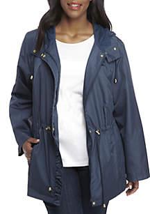 Plus Size Parka In A Pocket Jacket