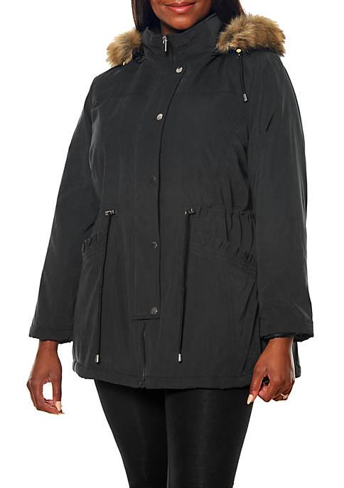 Plus Size Fur Trim Anorak