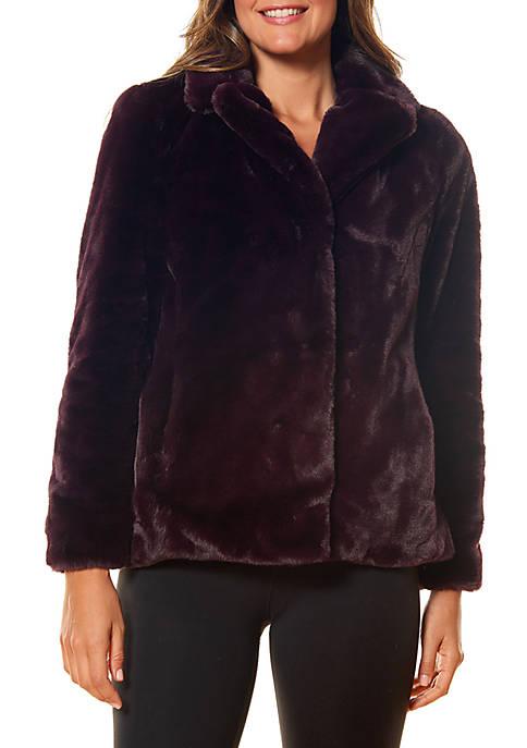 Kaari Blue™ Short Faux Fur Coat
