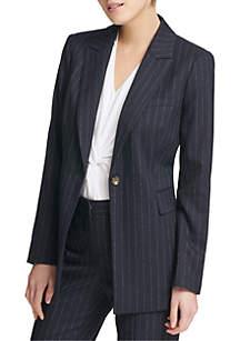 Pin Stripe Long Jacket