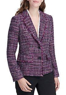 Tweed Fringe Pocket Jacket