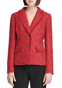 Tweed 2 Button Jacket