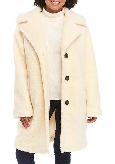 C&C California® Sherpa Button Front Coat
