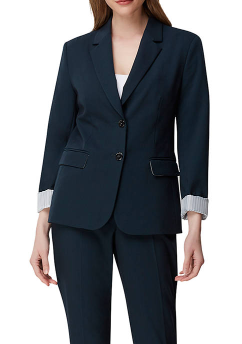 Womens Roll Sleeve 2 Button Jacket