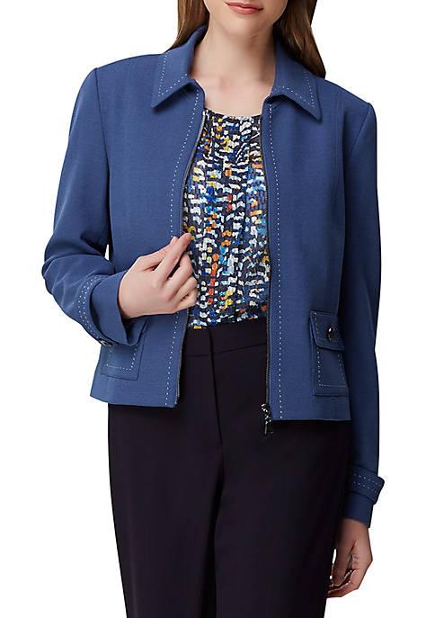 Patch Pocket Zipper Jacket