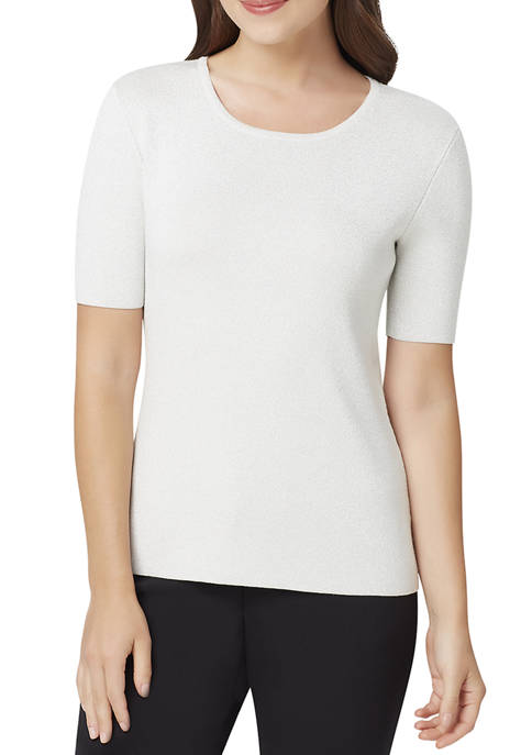 Womens Crew Neck Short Sleeves LUREX® Sweater